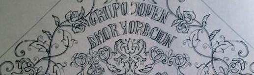 boceto banderin grupo joven