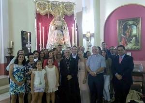 Junto al Señor Obispo y nuevo Párroco