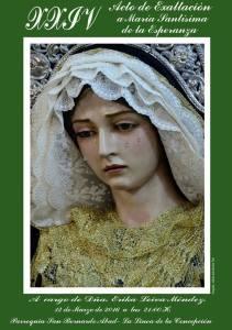 Cartel Exaltación Virgen de la Esperanza