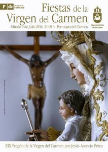 Cartel XIX Pregón Virgen del Carmen