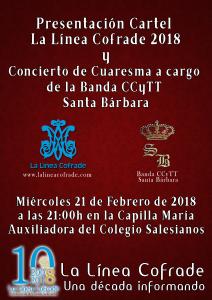 Cartel 2018, diseño y realización Ildefonso Pérez López