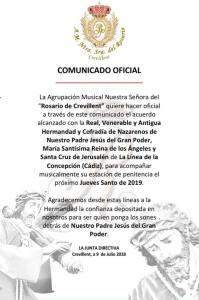 Comunicado de la A.M. Rosario